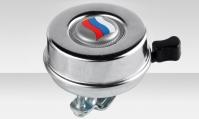 Звонок JH-770 Jang Horng, с российским флагом, сталь, хром