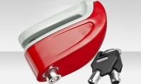 Замок GK202.802 на диск. тормоз противоугонный c звук. сигнализацией красн.