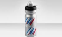 Фляга CB-1580A-1 680 мл, с колпачком от пыли,  материал полиэтилен, цвет серебристо-бело-синий