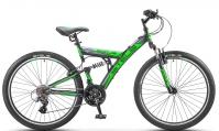 """Велосипед горный  Stels Focus V 26"""" 18-sp V020 черно/зелёный"""