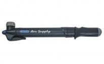 """Насос для велосипеда GIYO GP-45E, max 80psi(5атм), телескопический, универсальный 2-х сторонний внутренний вентиль """"вело/авто"""". Цвет: черный."""