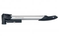 """Насос для велосипеда GIYO GP91, телескопический алюминиевый, 8 атм/120psi, с манометром, вентиль """"вело/авто"""", складная Т- образная ручка."""