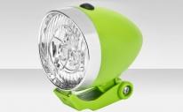 Фонарь JY-592 передний на вилку, 3 суперярких светодиода, 1 режим работы, цвет серебристо-зелёный
