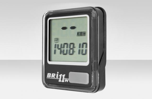 Велокомпьютер BRI-11W беспроводной, 11 функций, чёрный