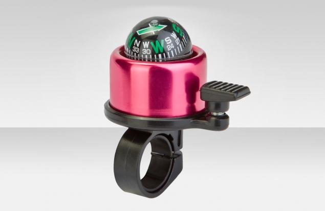 """Звонок 14A-04 """"Компас"""" верх алюминиевый, основа пластик, чёрно-фиолетовый"""