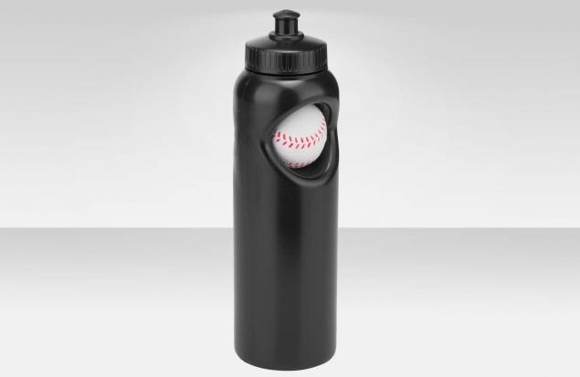 """Фляга CB-1573 700 мл, """"Бейсбольный мяч"""", полиэтилен, чёрная"""