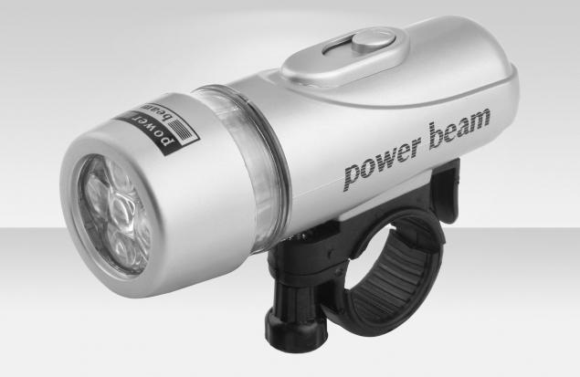 Фонарь водонепроницаемый JY-808 передний на руль, 5 светодиодов, 3 режима работы