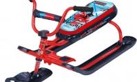 Снегокат Ника-джамп (ХОККЕЙ) рама красная велоруль