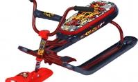 Снегокат Ника-джамп (ГРАФФИТИ КРАСНЫЙ) рама красная велоруль