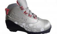 Ботинки лыжные NNN Women SYSTEM Comfort серебро