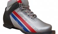Ботинки лыжные 75 мм ACTIV COMFORT (кожзам) СЕРЕБРО-ЧЕРНЫЙ