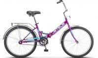"""Велосипед складной STELS Pilot-710 24"""" Z010 фиолетовый"""