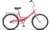 """Велосипед складной STELS Pilot-710 24"""" Z010 малиновый"""
