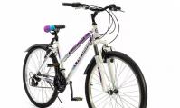 """Горный (MTB) велосипед Top Gear Style 26 с крыльями (ВН26433К) белый/сиреневый 16"""""""