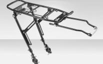 """Багажник BLF-H2 универсальный разборный, с регулировкой высоты стоек с универсальными креплениями, для велосипедов 24""""-28"""" , алюминиевый чёрный"""
