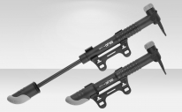 Насос GP-04K Giyo ручной, длина 9 дюймов, пластиковый корпус, переходник автовентиль/Presta, с креплением к раме велосипеда, серо-чёрный