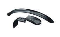 """Крылья для велосипеда Simpla Raptor SD Long для 26 -28"""", к-т, универсальные, удлиненные, черные."""