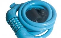 Велозамок противоугонный 4Bike 501, 12x1500 мм, кодовый, синий