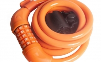 Велозамок противоугонный 4Bike 501, 12x1500 мм, кодовый, оранжевый