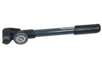 Насос GIYO GP-991, двухходовой, до120 PSI (8 атмосфер). С круглым манометром.
