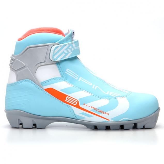 Лыжные ботинки SPINE NNN X-Rider (254/2) (бирюзовый/белый)